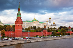 Moscow Kremlin view. Panorama view of Kremlin in Moscow, Russia royalty free stock photos