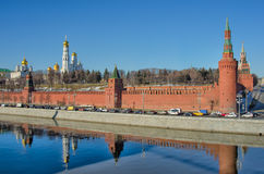 MOSCOW KREMLIN. View on Moscow Kremlin and Moscow river Royalty Free Stock Images