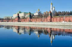 MOSCOW KREMLIN. View from the Moscow river Royalty Free Stock Image