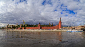 Moscow Kremlin, view from the river. On a summer day Stock Photography