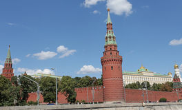 Moscow Kremlin view from river. Royalty Free Stock Photos