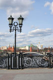 Moscow Kremlin. Vintage style street lamp. Stock Images