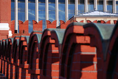Moscow Kremlin wall. Color photo. Stock Photos