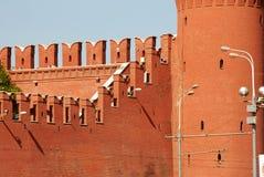 Moscow Kremlin wall fragment Royalty Free Stock Image