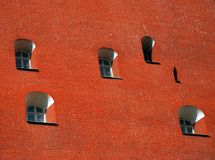 Moscow Kremlin wall in a sunny day. Moscow Kremlin wall detail in a sunny day Stock Images