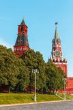 Moscow, Kremlin Wall Towers in Moscow.Russia. Moscow, Kremlin Wall Towers in Moscow on summer sunny morning royalty free stock photography