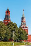 Moscow, Kremlin Wall Towers in Moscow. Russia stock images
