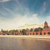 The Moscow Kremlin and the waterfront. Moscow Royalty Free Stock Photography