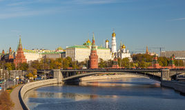 Moscow Kremlin and the waterfront Royalty Free Stock Photo