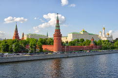 MOSCOW KREMLIN. And the waterfront. Moscow. Russia Royalty Free Stock Images