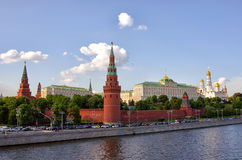 MOSCOW KREMLIN. And the waterfront. Moscow. Russia Royalty Free Stock Photography