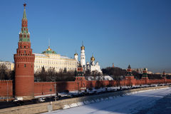 Moscow Kremlin in winter Royalty Free Stock Photos