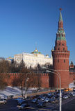 Moscow Kremlin in winter Stock Images