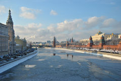 The Moscow Kremlin in winter Stock Image