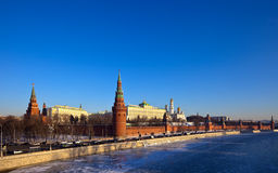 Moscow Kremlin in winter day. Russia Royalty Free Stock Photo