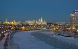 Moscow Kremlin. Winter Evening Royalty Free Stock Photo