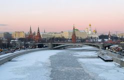 Moscow, Kremlin, winter evening Royalty Free Stock Images