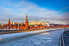 Moscow Kremlin in winter Stock Photo