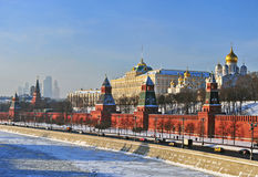 Moscow Kremlin on winter Stock Images