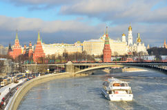 Moscow kremlin in winter, Russia Royalty Free Stock Photo