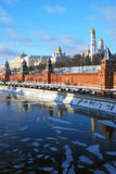 Moscow Kremlin in winter Royalty Free Stock Images