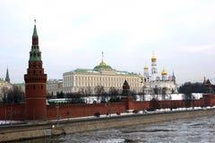 Moscow Kremlin at winter Royalty Free Stock Photo