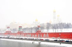 Moscow Kremlin winter view. Stock Photos