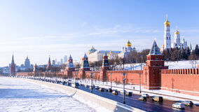 Moscow Kremlin winter view, Russia Stock Photography