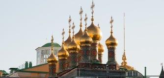 moscow kupol av kyrkan i Kreml Fotografering för Bildbyråer