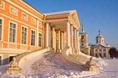 Moscow. Kuskovo. Sheremetev Palace in Kuskovo, Moscow, Russia Royalty Free Stock Photo