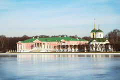 Moscow. Kuskovo. Kuskovo estate - the former estate of the counts Sheremetevs, which preserved the architectural ensemble of the XVIII century Royalty Free Stock Photography