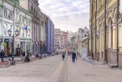 moscow Kuznetsky mest gata Royaltyfri Bild