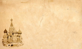 Moscow landmark background. Royalty Free Stock Images