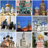 Moscow landmarks collage Stock Image