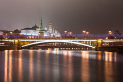 Moscow. The Large Stone (Bolshoy Kamenny) Bridge. Royalty Free Stock Images