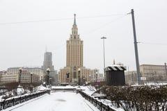 Moscow Leningradskaya Hotel Royalty Free Stock Image