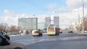 Moscow. Leningradsky Avenue stock video