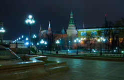 Moscow lights Royalty Free Stock Photo