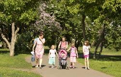 Moscow, Lilac garden Stock Photo