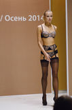 Moscow Lingrie Expo Fashion Show Autumn Lingrie and stockings Stock Images