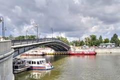 Moscow. Luzhkov bridge Royalty Free Stock Images