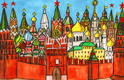 moscow målning Royaltyfri Bild