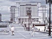 moscow Manezhnaya kwadrat terenu miasta ulicy Moscow fotografii ulicy Zdjęcie Royalty Free