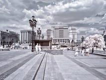 moscow Manezhnaya kwadrat terenu miasta ulicy Moscow fotografii ulicy Obraz Royalty Free