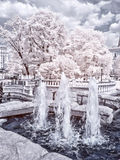 Moscow. Manezhnaya Square  and Alexander Garden. Infrared photo Royalty Free Stock Photo