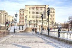 Moscow. Manezhnaya Square Stock Photography