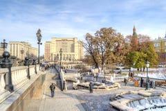 Moscow. Manezhnaya Square Royalty Free Stock Photography