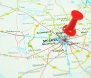 Moscow on map stock images