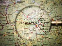 Moscow map Stock Photos