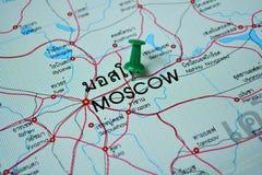 Moscow map Stock Photos